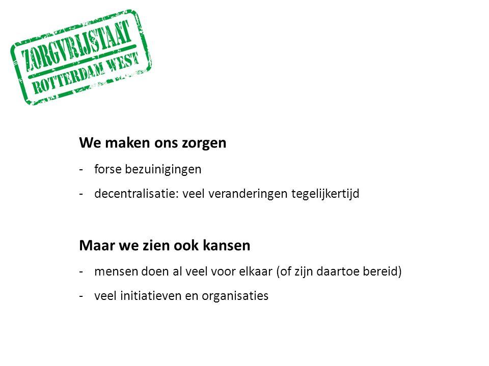 Opzetten van collectieve voorzieningen -Aanschuiven!Buurtmantelzorg -huishoudelijke hulpdienstenHet Zal Werken.