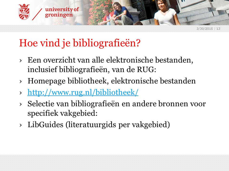 Hoe vind je bibliografieën.