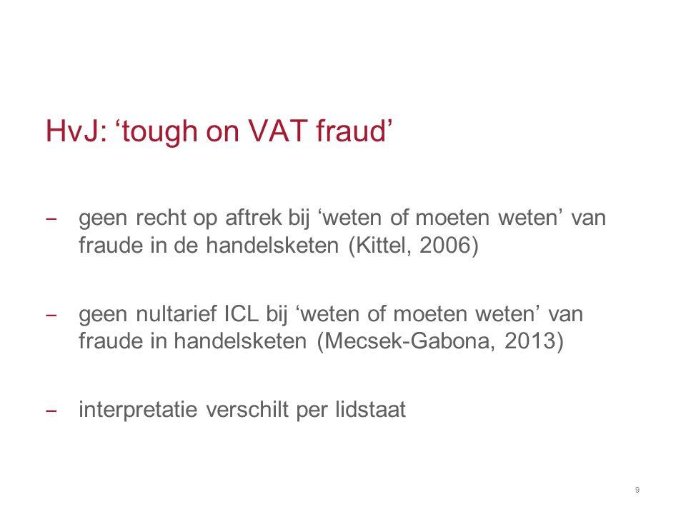HvJ: 'tough on VAT fraud' ‒ geen recht op aftrek bij 'weten of moeten weten' van fraude in de handelsketen (Kittel, 2006) ‒ geen nultarief ICL bij 'we