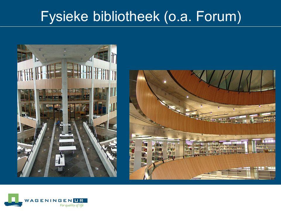 Fysieke bibliotheek (o.a. Forum)
