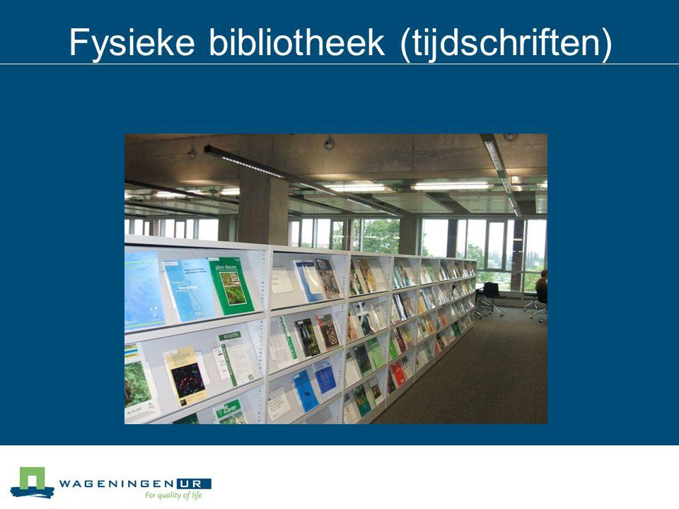 Fysieke bibliotheek (tijdschriften)