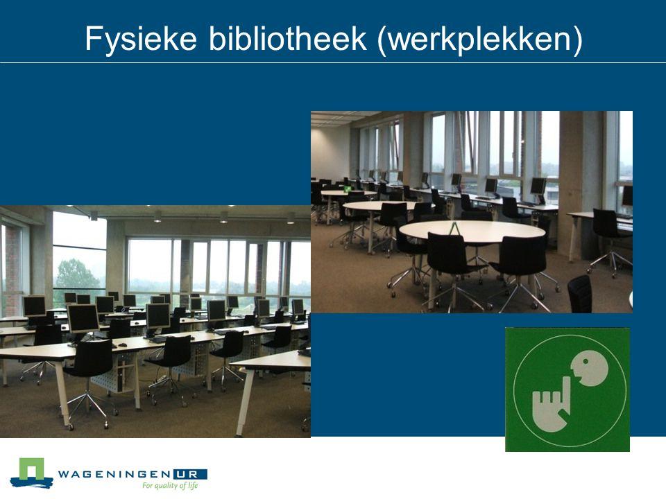 Fysieke bibliotheek (werkplekken)