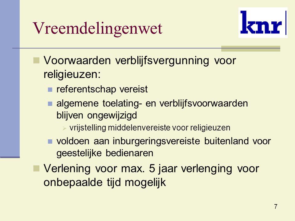 8 Wet arbeid vreemdelingen Regels omtrent arbeid in Nederland door vreemdeling: Tewerkstellingsvergunning vereist Ruim begrip arbeid en werkgever
