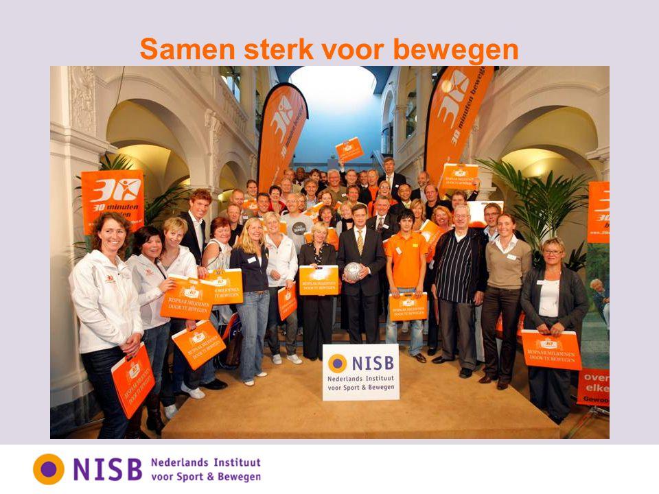 NISB: de partner in sport en bewegen Nederlands kennis- en innovatie-instituut dat aanzet tot sport en bewegen om participatie, leefbaarheid en gezondheid te bevorderen.