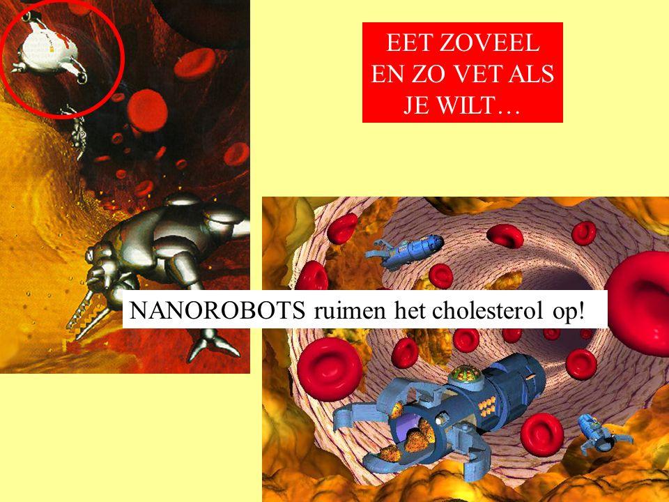 NANOROBOTS ruimen het cholesterol op! EET ZOVEEL EN ZO VET ALS JE WILT…