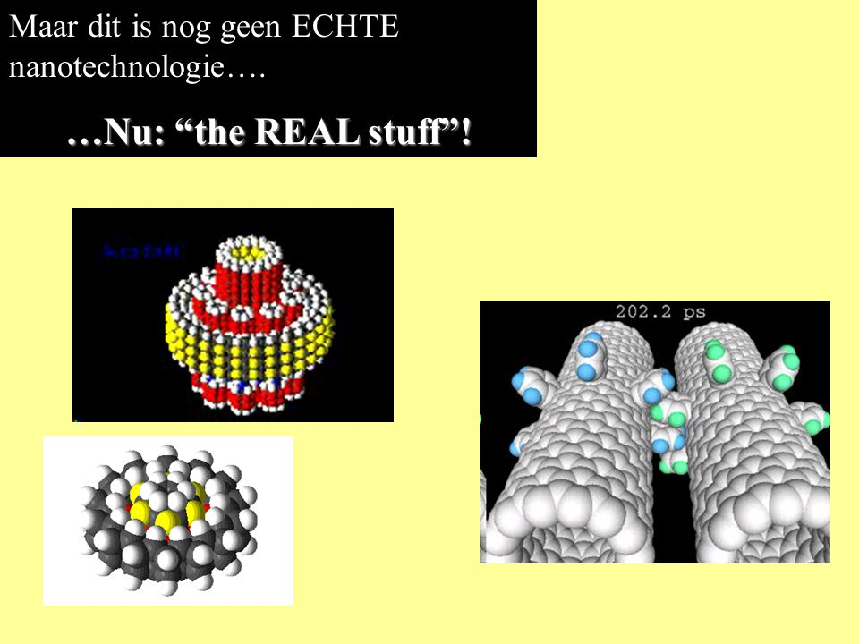 Een levende cel is nano-technologie in actie …en vrijwel alle robots die ik liet zien bestaan al honderden miljoenen jaren.