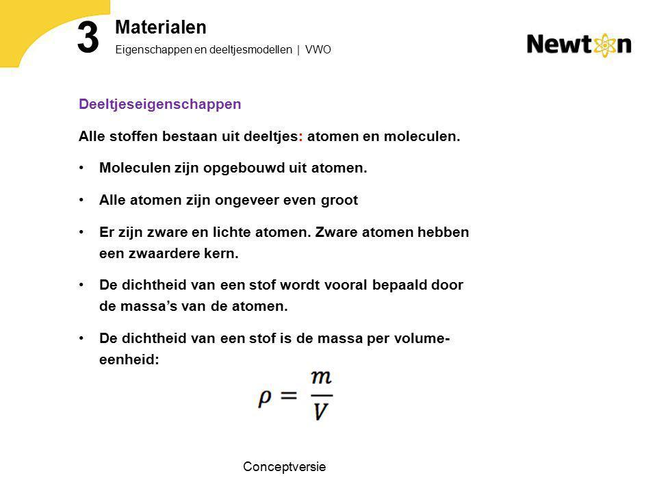 Deeltjeseigenschappen Alle stoffen bestaan uit deeltjes: atomen en moleculen.