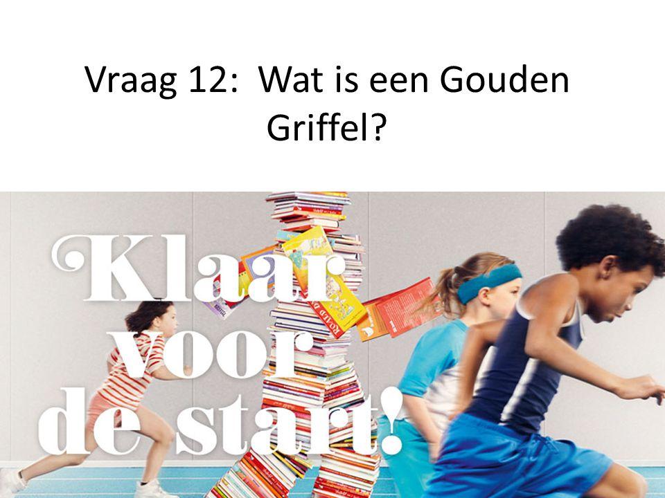 Vraag 12: Wat is een Gouden Griffel?