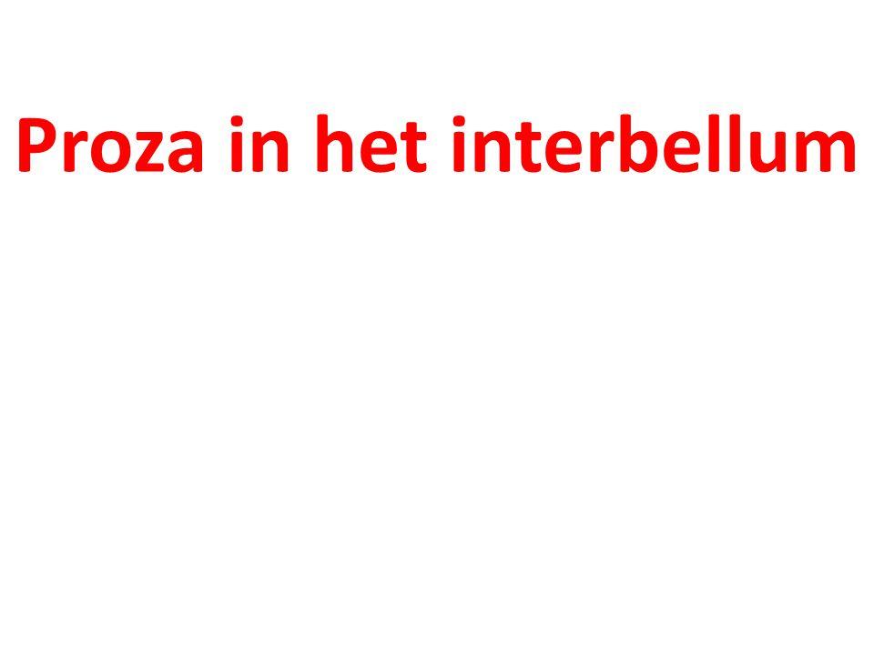 Proza in het interbellum
