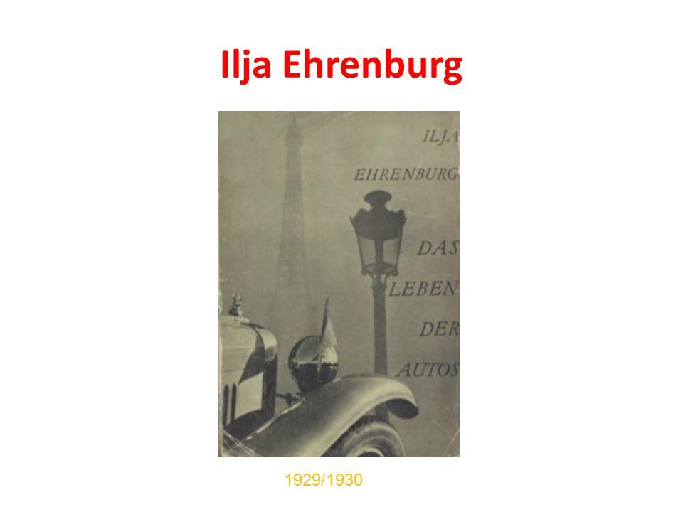 Ilja Ehrenburg 1929/1930