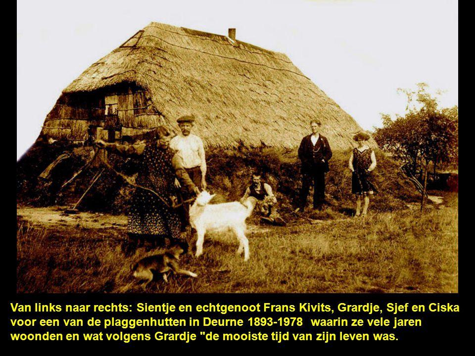 Familie in Deurne/Zeilberg. V.l.n.r. Grard Sientje, echtpaar Moes en 3 bezoekers.