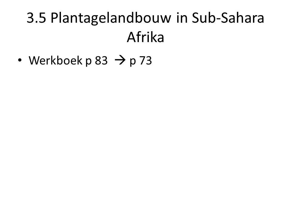 3.5 Plantagelandbouw in Sub-Sahara Afrika Werkboek p 83  p 73