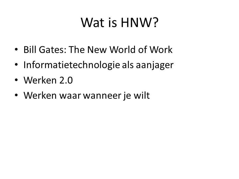 Paul de Krom – SZW, 2011 Het Nieuwe Werken is een arbeidsvorm in opkomst.