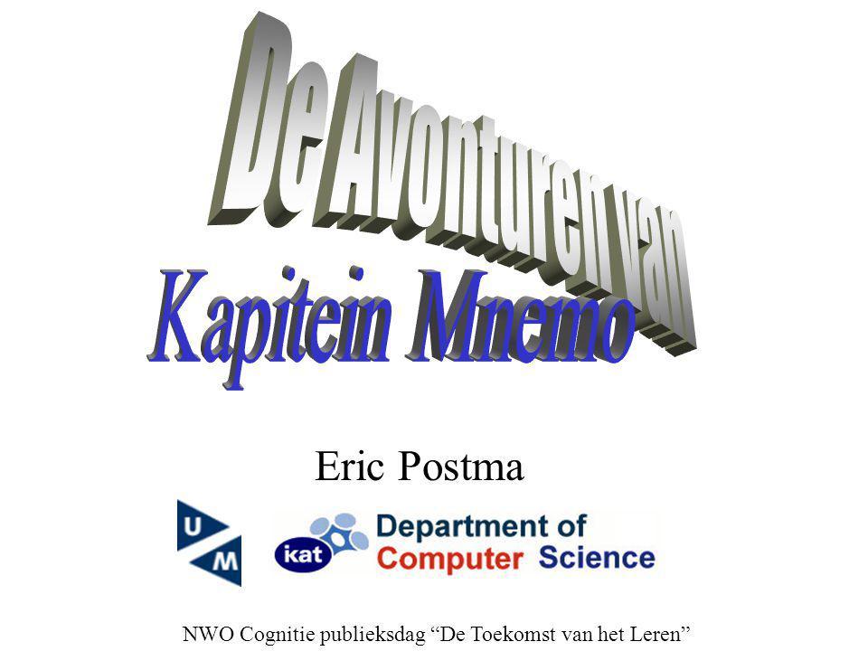 """Eric Postma NWO Cognitie publieksdag """"De Toekomst van het Leren"""""""