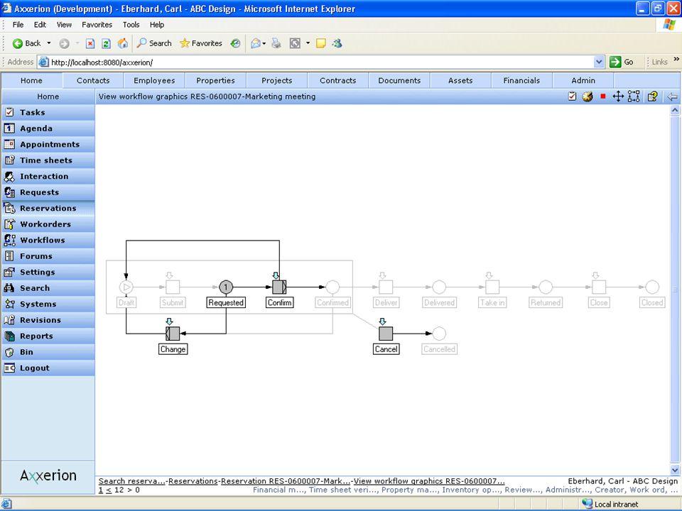 Workflow engine  Основан на YAWL и сетях Петри  Поддержка 20 шаблонов control flow  Не требует программирования