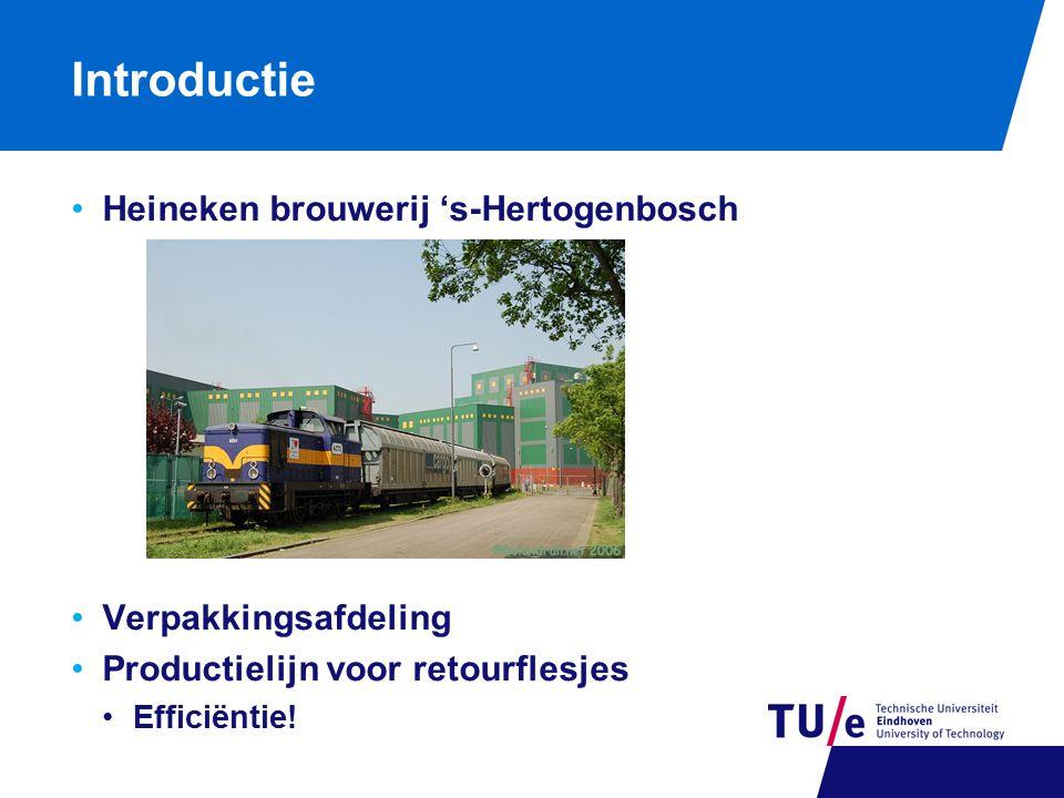 Introductie Heineken brouwerij 's-Hertogenbosch Verpakkingsafdeling Productielijn voor retourflesjes Efficiëntie!