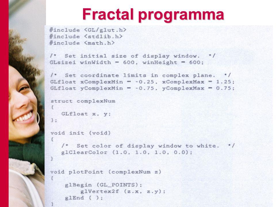 Fractal programma