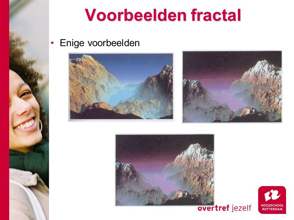 Voorbeelden fractal Enige voorbeelden
