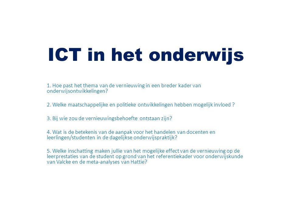 ICT in het onderwijs 1.