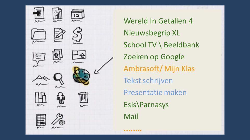 Wereld In Getallen 4 Nieuwsbegrip XL School TV \ Beeldbank Zoeken op Google Ambrasoft/ Mijn Klas Tekst schrijven Presentatie maken Esis\Parnasys Mail........