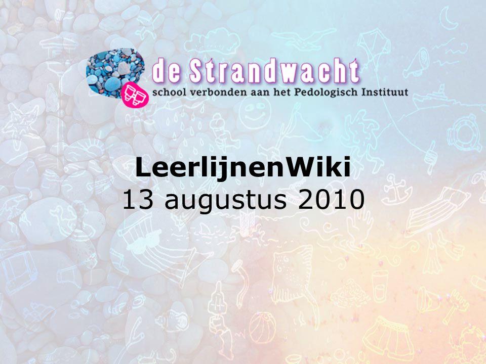 LeerlijnenWiki 13 augustus 2010