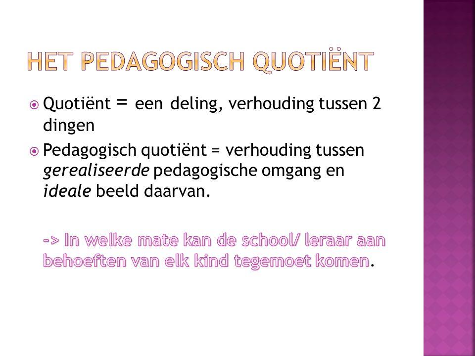 Professionaliteit van leraar (Boyle)= Het geheel van attitudes van docenten t.o.v.
