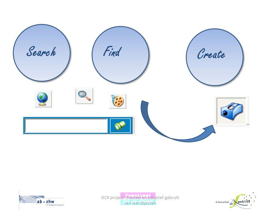IECK project Flexibel en adaptief gebruik van leerobjecten Create