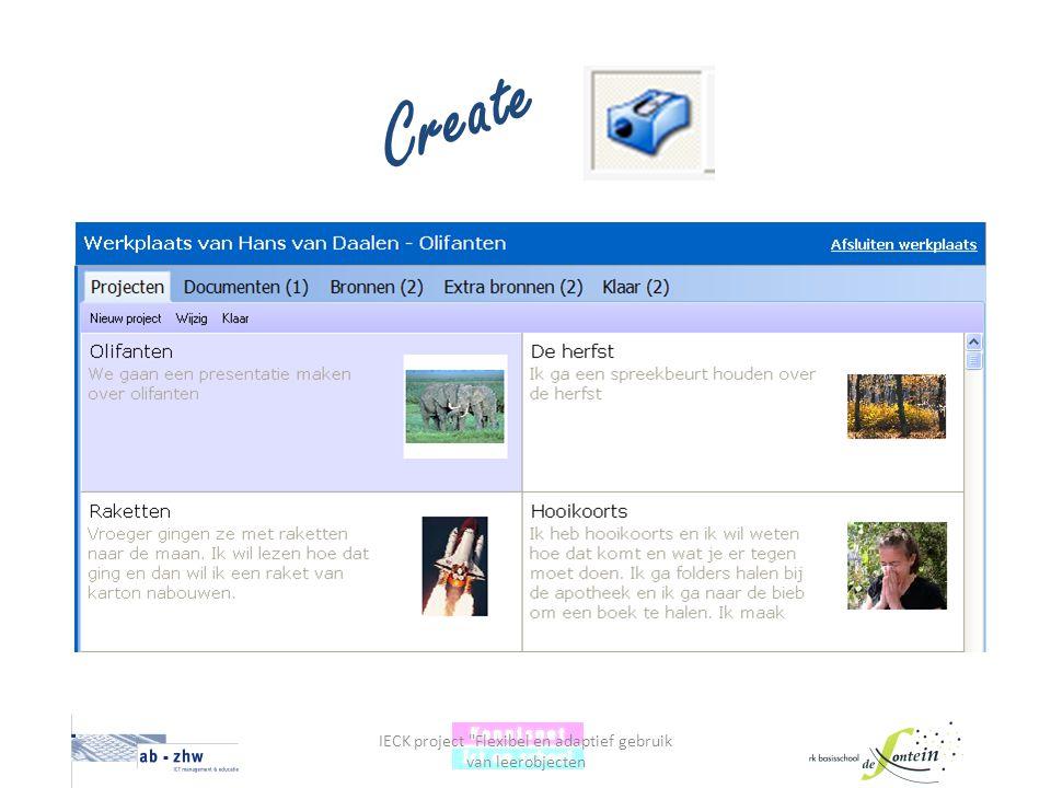 IECK project Flexibel en adaptief gebruik van leerobjecten