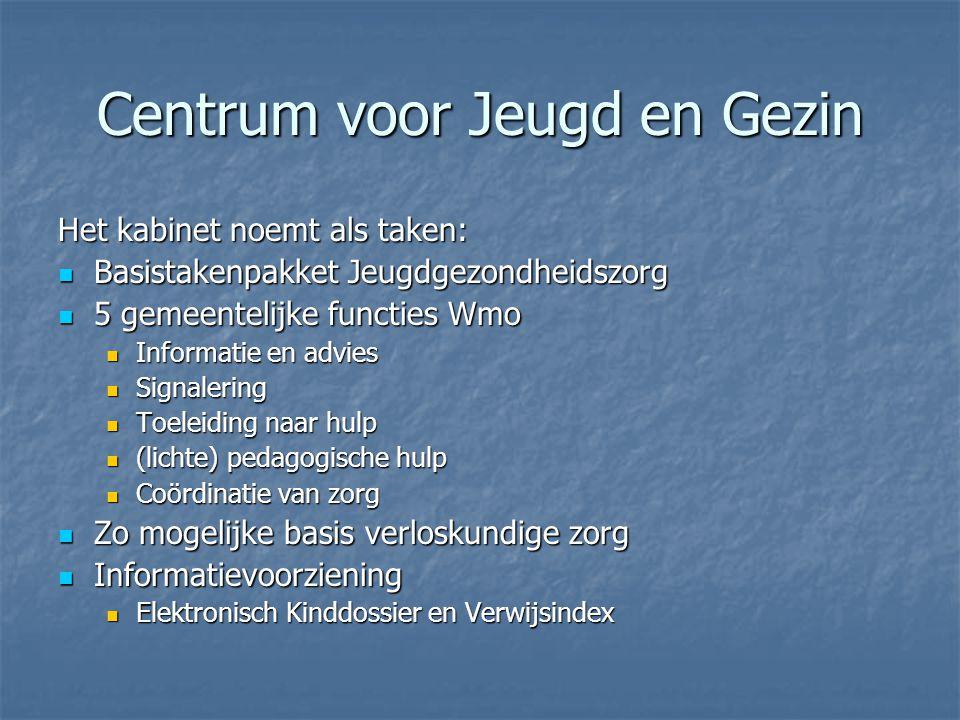 gemeenteprovincie verwijsindex Jeugdgezond- heidszorg 0 – 19 Thuiszorg GGD onderwijs --------------- kinderdagv, peuterspeelz.
