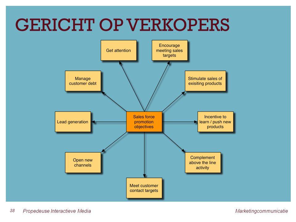 GERICHT OP VERKOPERS 38 Propedeuse Interactieve Media Marketingcommunicatie