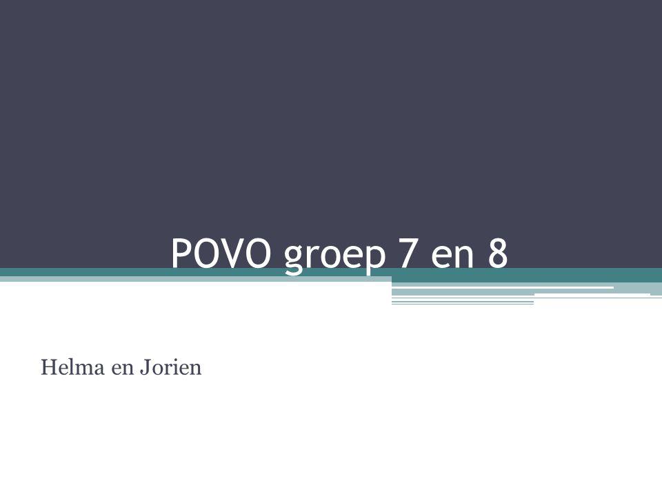 POVO groep 7 en 8 Helma en Jorien