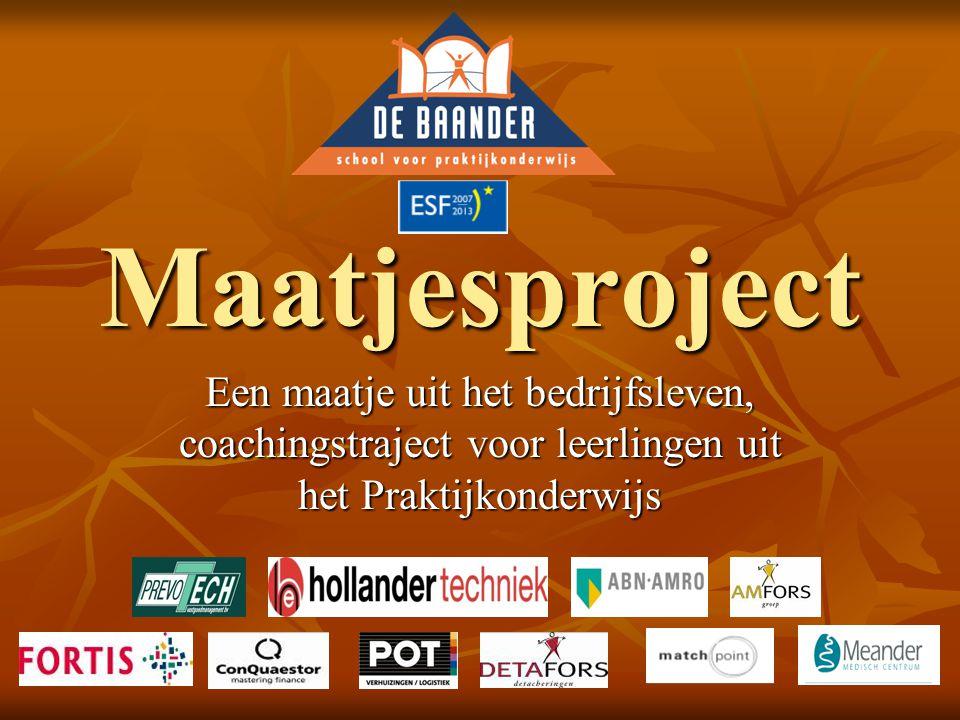 Maatjesproject Een maatje uit het bedrijfsleven, coachingstraject voor leerlingen uit het Praktijkonderwijs