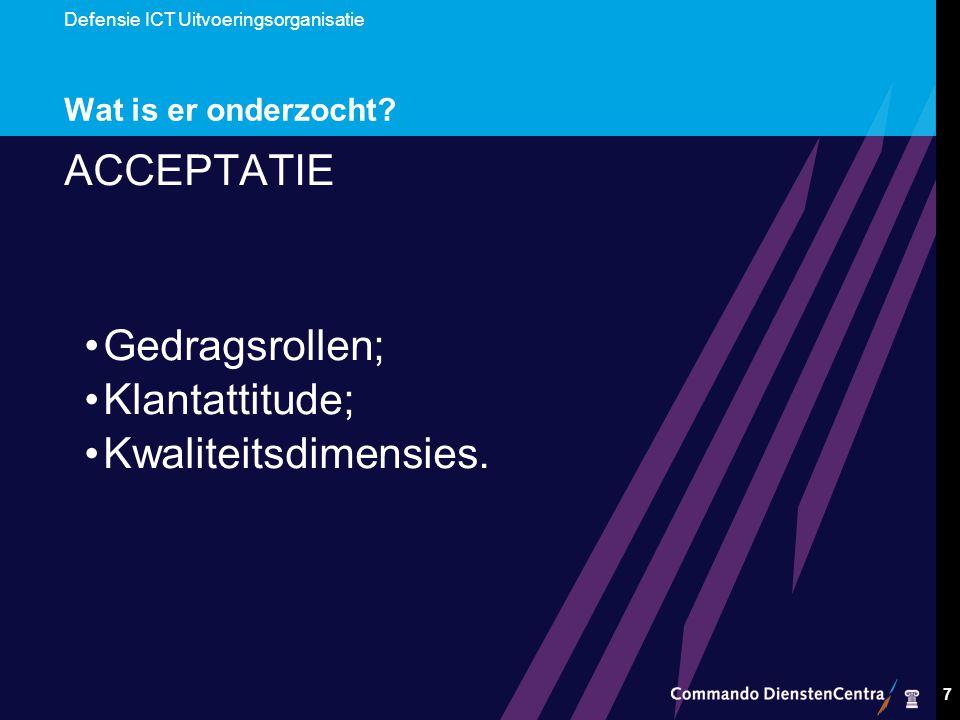 Defensie ICT Uitvoeringsorganisatie 7 Wat is er onderzocht.