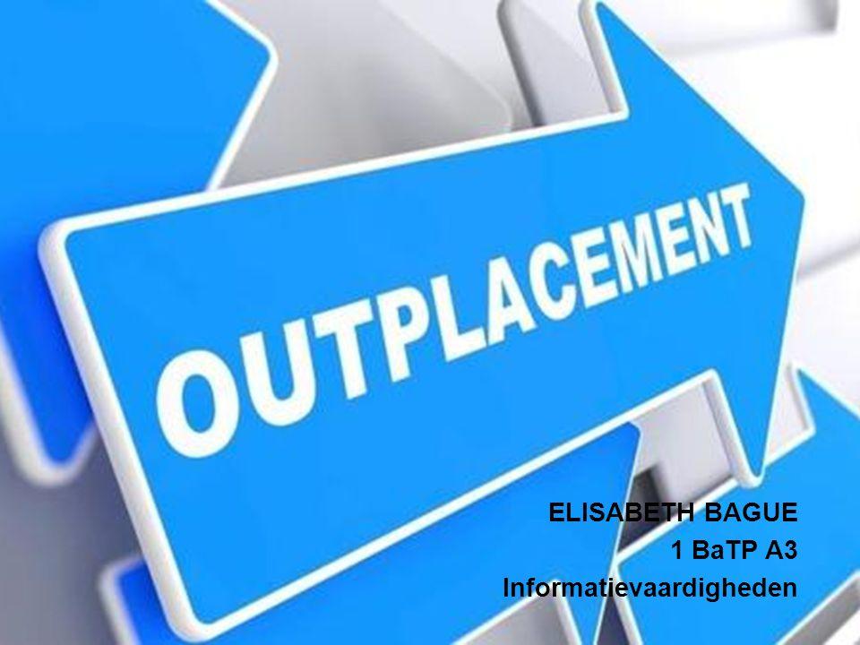 ELISABETH BAGUE 1 BaTP A3 Informatievaardigheden