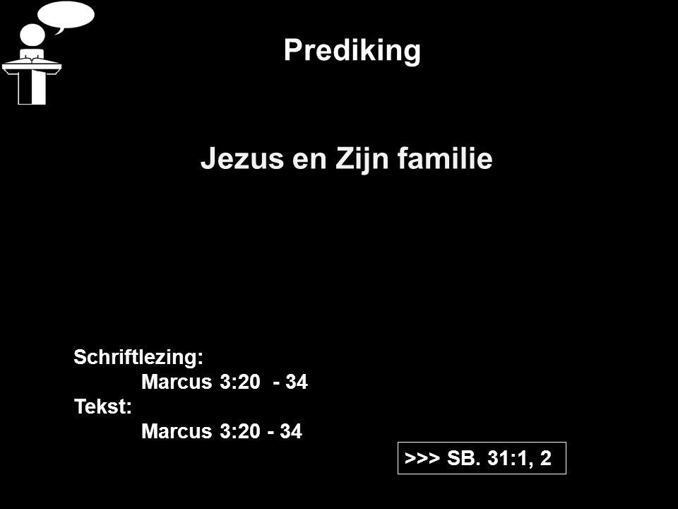 Prediking Jezus en Zijn familie >>> SB.