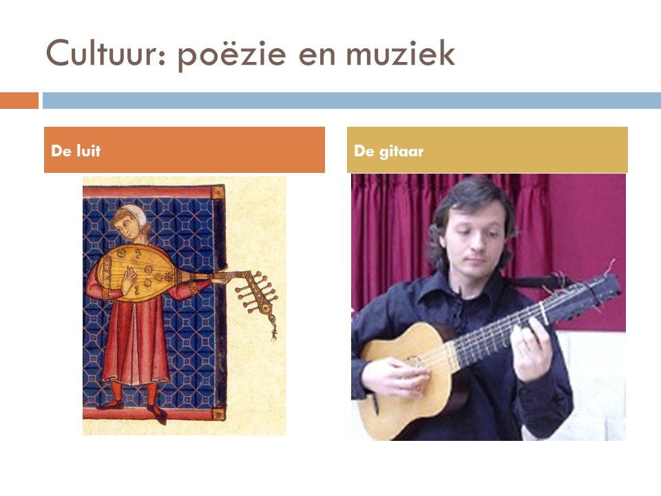Cultuur: poëzie en muziek De luitDe gitaar