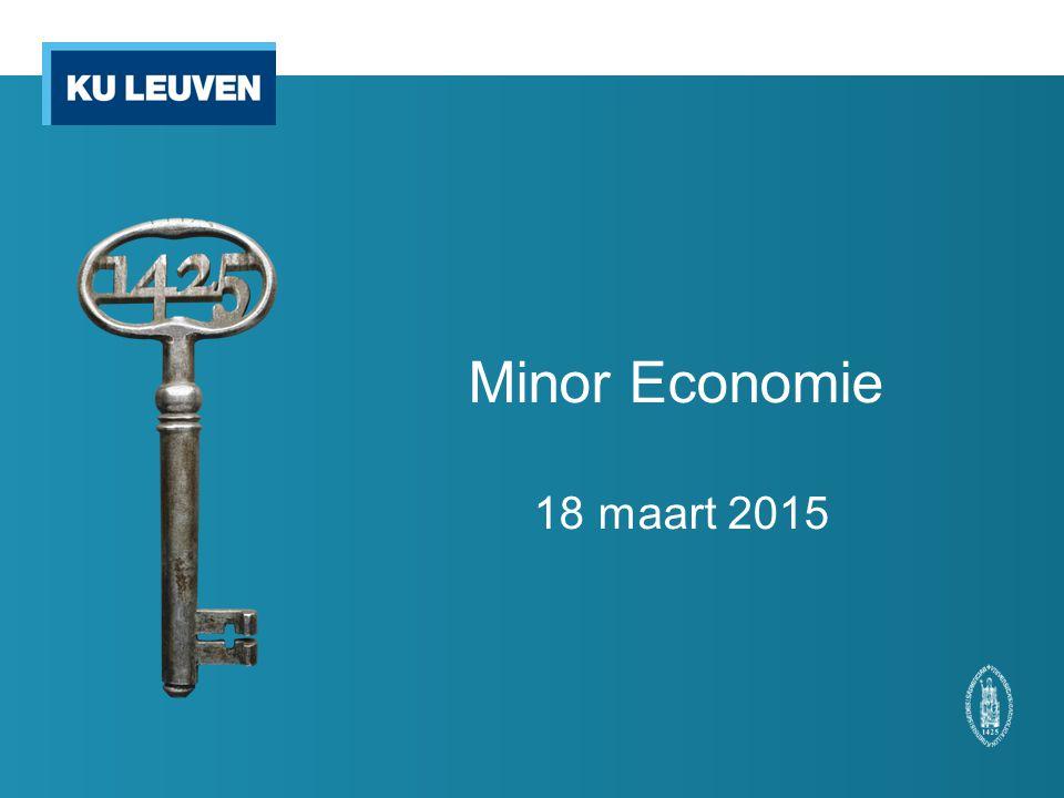 Minor Economie 18 maart 2015