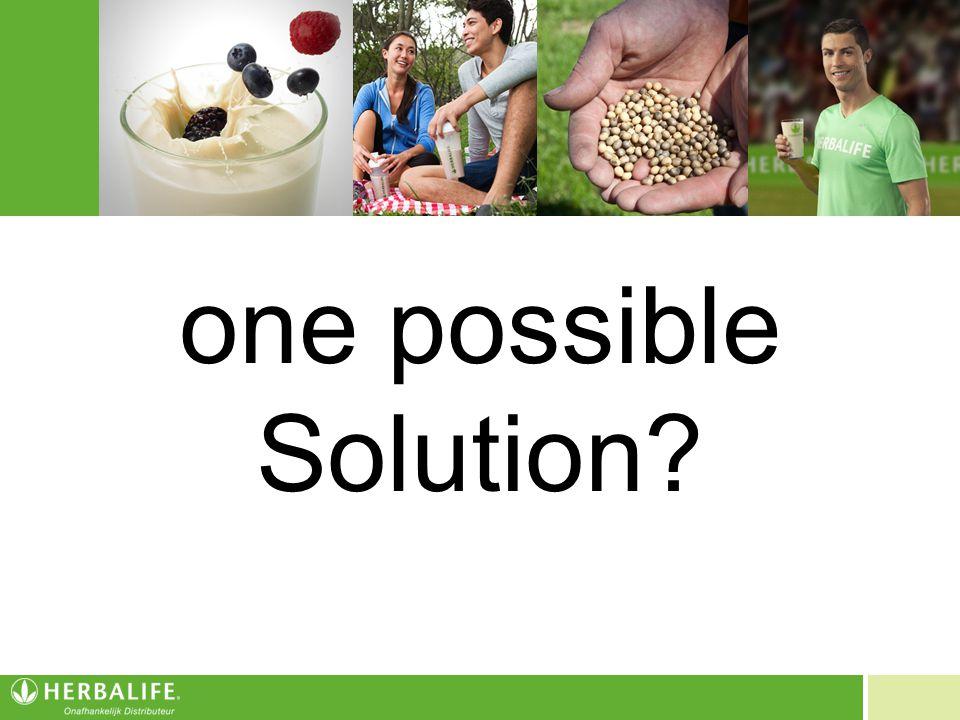 Voeding voor een beter leven one possible Solution?