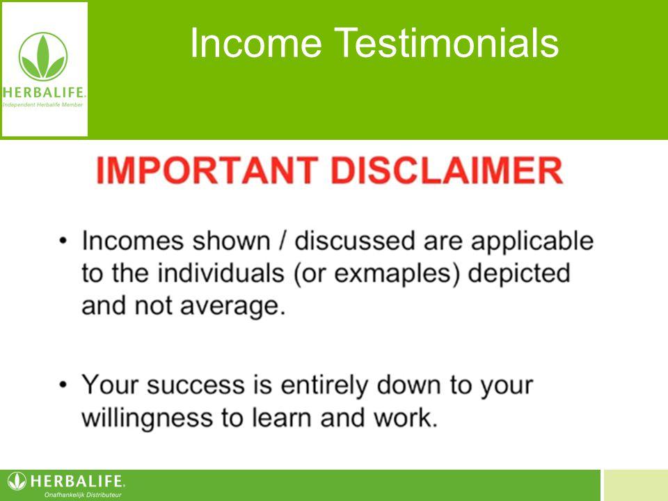 Income Testimonials Inkomens zijn van toepassing op de individuen en zijn geen garantie voor uw inkomen. Inkomsten hangen af van factoren zoals uw zak