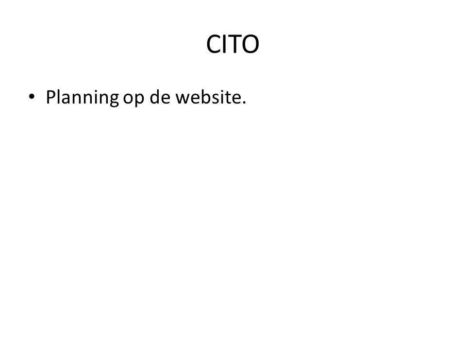 CITO Planning op de website.