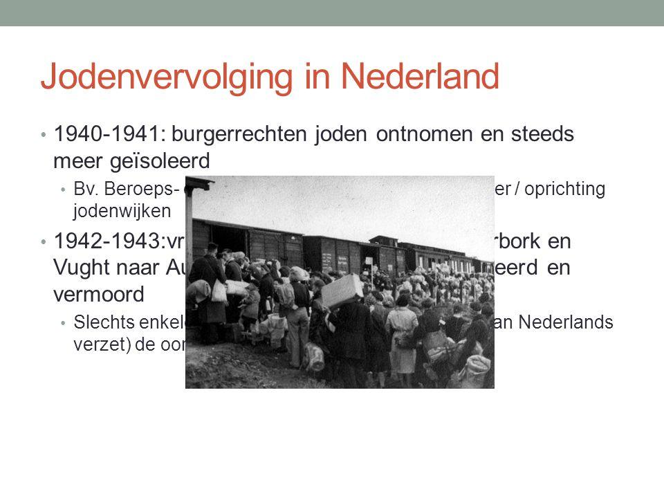 Jodenvervolging in Nederland 1940-1941: burgerrechten joden ontnomen en steeds meer geïsoleerd Bv.