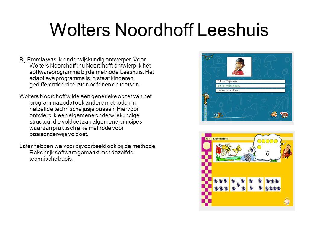 Wolters Noordhoff Leeshuis Bij Emmia was ik onderwijskundig ontwerper.