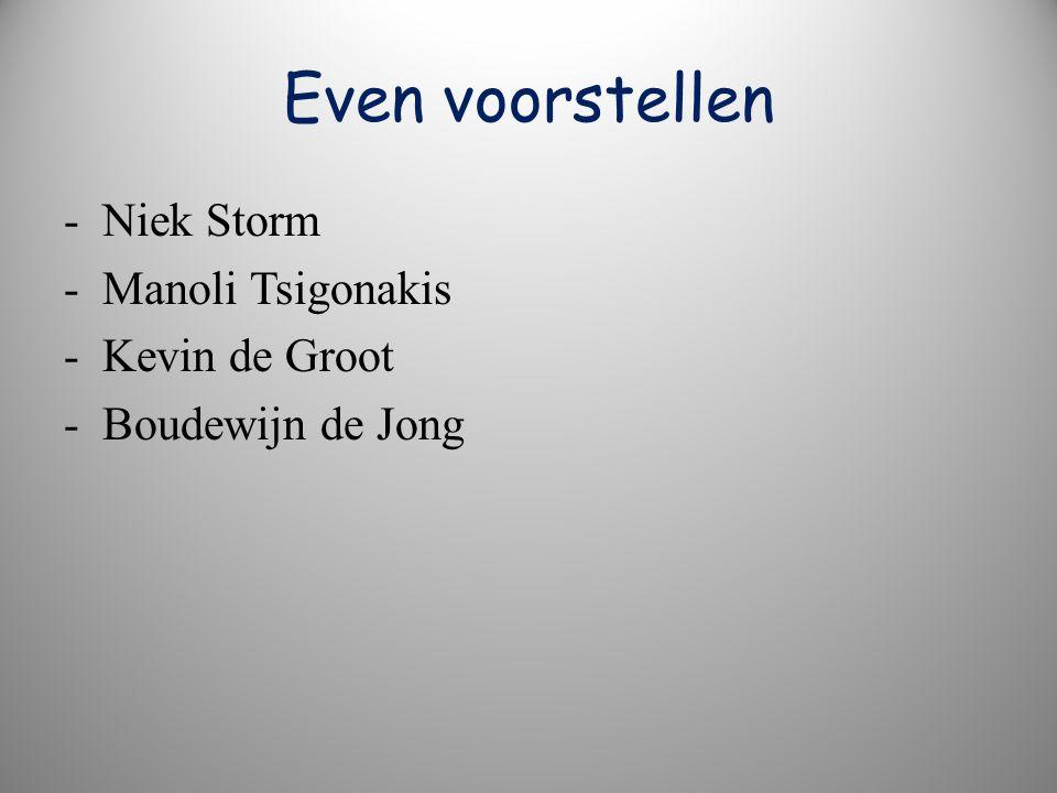 Even voorstellen - Niek Storm - Manoli Tsigonakis - Kevin de Groot - Boudewijn de Jong