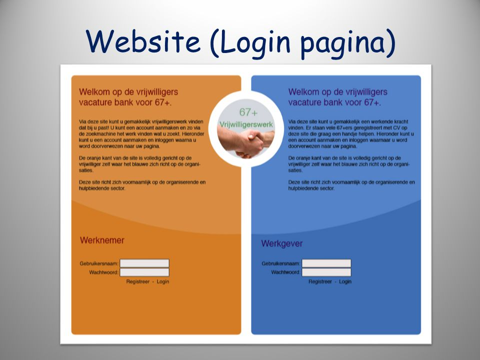 Website (Login pagina)