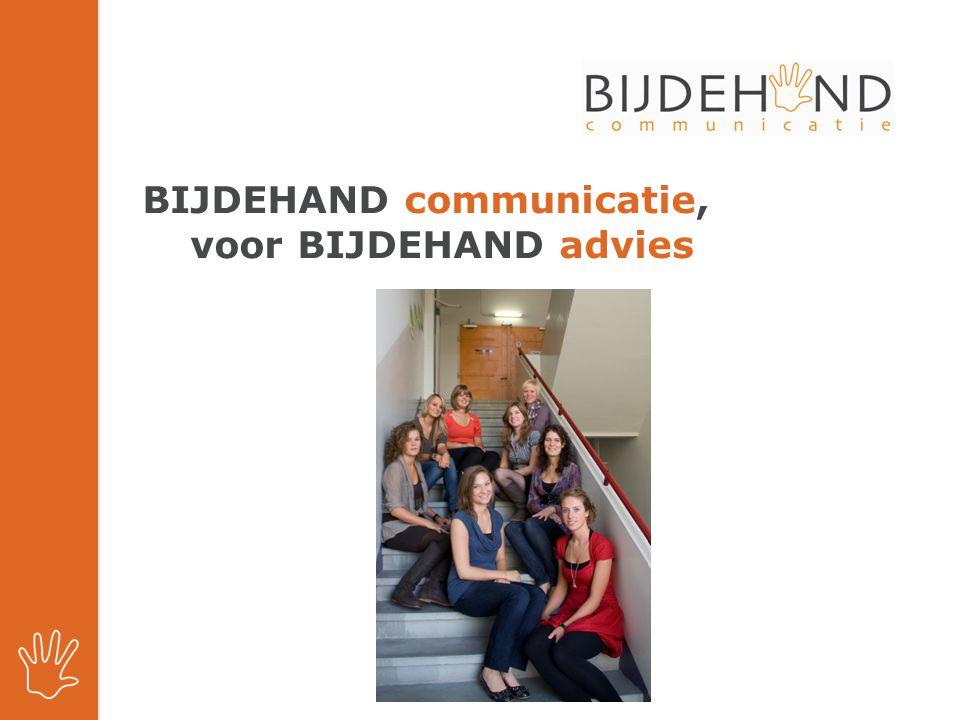 BIJDEHAND communicatie, voor BIJDEHAND advies