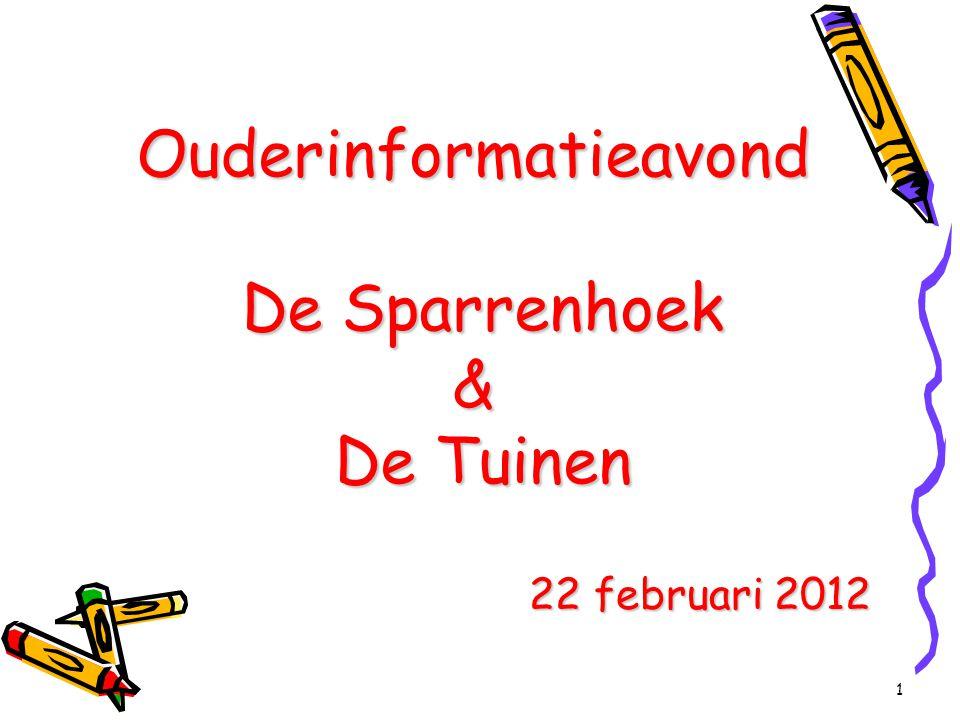 1 Ouderinformatieavond De Sparrenhoek & De Tuinen 22 februari 2012