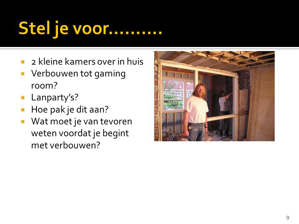  2 kleine kamers over in huis  Verbouwen tot gaming room.