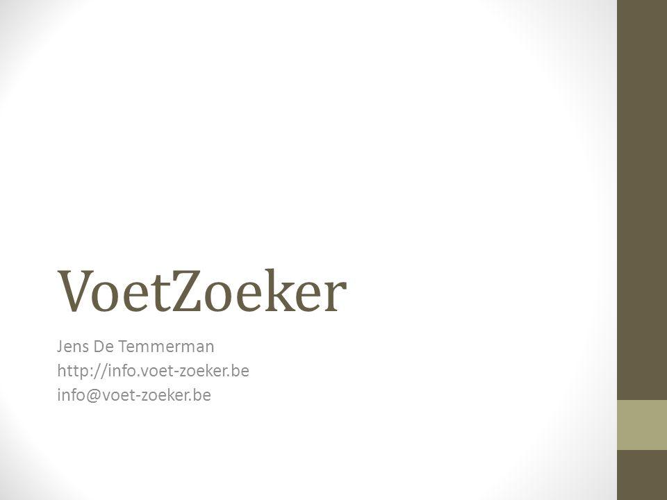 VoetZoeker Jens De Temmerman http://info.voet-zoeker.be info@voet-zoeker.be