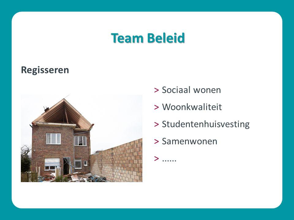 Team Beleid Regisseren ˃Sociaal wonen ˃Woonkwaliteit ˃Studentenhuisvesting ˃Samenwonen ˃......