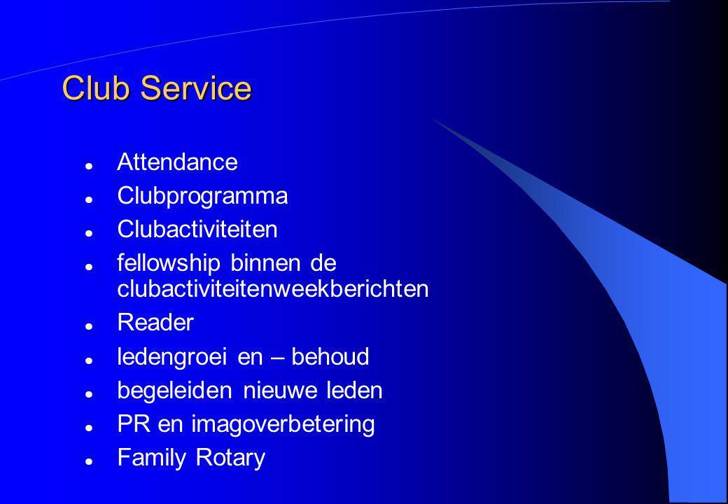 Club Service Attendance Clubprogramma Clubactiviteiten fellowship binnen de clubactiviteitenweekberichten Reader ledengroei en – behoud begeleiden nie
